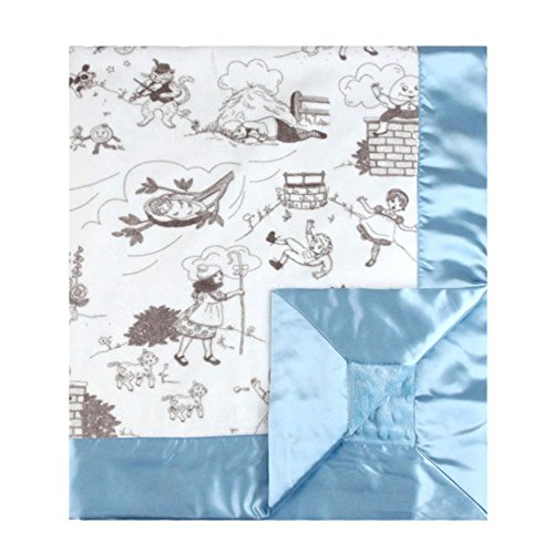 My-Blankee-Bedtime-Story-Minky-Silver-w-Minky-Dot-Blue-Baby-Blanket-30-x-35