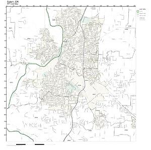 Amazoncom ZIP Code Wall Map of Salem OR ZIP Code Map Laminated