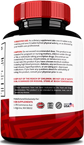Testosterone Booster for Men & Women by USA Supplements The Best Muscle Enhancement Treatment All Natural Vitamins for Energy and Sex Drive Herbal Tongkat Ali, Horny Goat Weed Leaf Extract