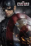 Captain America 3: Civil War - Marvel Movie Poster / Print (Captain America - Solo With Shield) (Size: 24'' x 36'') (By POSTER STOP ONLINE)