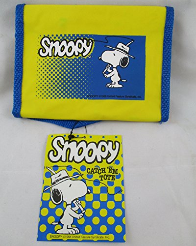 Snoopy Fishing Catch Em Tote Tackle Bag Zebco 1992