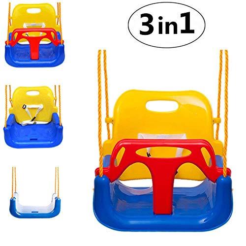 Emwel High Backed Toddler Swing, 3-in-1 Infants Baby Toddler Children Teens...