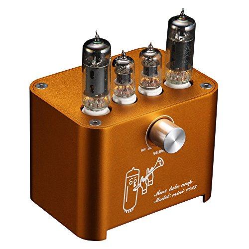Nobsound APPJ Mini Vacuum Tube Amplifier Stereo HiFi Desktop Power Amp 3W+3W (Orange) ()