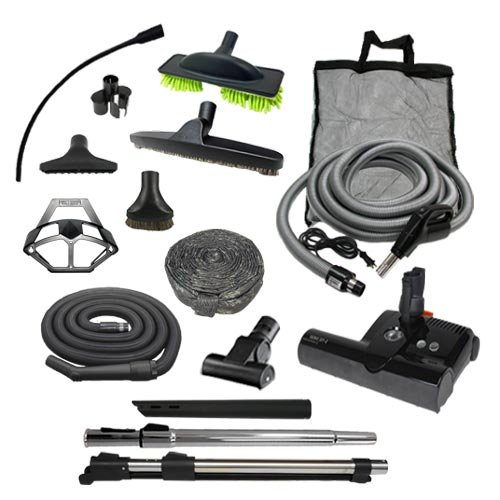 Sebo Diamond Central Vacuum Accessory Kit with ET-2 Powerhead (Pigtail, 30′)