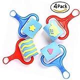 4 Pack Craft Paintbrush Children Toy Sponge Brush Roller Kids Drawing Paint Art Graffiti Supplies Nursery