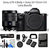 Sony a7R II Full-Frame Mirrorless Interchangeable Lens Camera Body and Sony 24-70mm f/4 Vario-Tessar T FE OSS Interchangeable Full Frame Zoom Lens + DigitalAndMore Camera & Lens Cleaning Solution