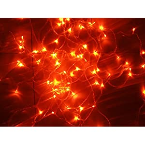 Orange String Lights, 164FT/50M 300 LED Orange Lights,8Modes,LDTX UL Certified Fairy Ambiance Lighting for Wedding,Party…