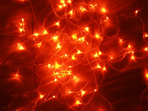 Orange String Lights, 164FT/50M 300 LED Orange Lights,8Modes, BLINGSTAR UL Certified Fairy Ambiance Lighting for Wedding,Party,Garden,Patio,Yard,Home,Parties, Halloween by BLINGSTAR