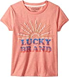 Lucky Brand Kids Girl's Maisie Tee (Big Kids) Shell Pink X-Large