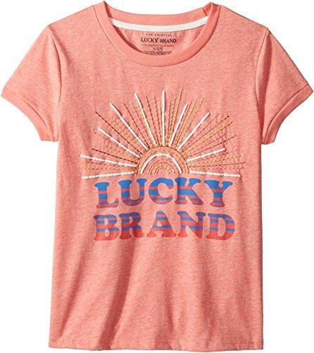Lucky Brand Kids Girl's Maisie Tee (Big Kids) Shell Pink X-Large
