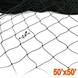 50' X 50' Net Netting for Bird Poultry Aviary Game Pens New 2.4'' Square Mesh Size
