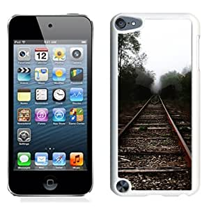 New Beautiful Custom Designed Cover Case For iPod 5 With Trees Railroad Tracks (2) Phone Case