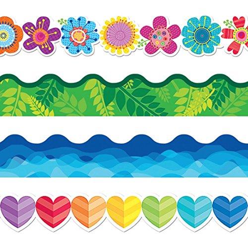 Flip Flop Border - Creative Teaching Press 7475 Springtime Bulletin Border Trim Pack (Pack of 4)