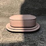Set rosa de platos y caja de concreto Aculco, fabricado por MDC: Muebles de Concreto
