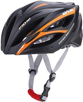 Casco para Bicicleta con 21 Puerto de Ventilación , Ciclismo Ajustable Cascos de Bicicleta de Montaña y Carretera para Protección de Seguridad y Transpirable para Adultos , 55-61cm(Negro + Naranja): Amazon.es: Deportes