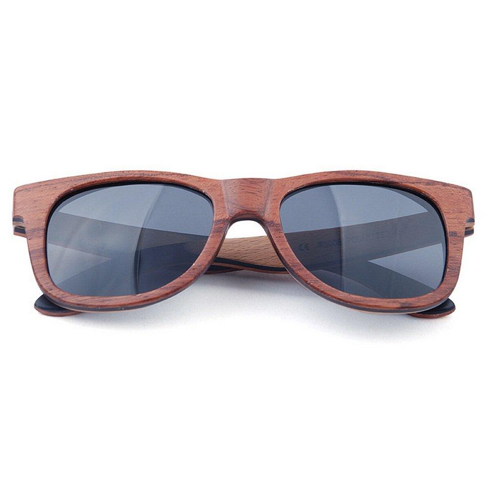 Gafas de de sol de madera Gafas polarizadas de de los hombres del ...