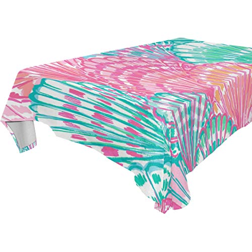 (Nanmma Lily Pulitzer Style Table Covers Tablecloth in Washable Polyester - Great for Catering Events, Dinner Parties, Special Occasions,Seasonal Décor, Wedding & More 60x120)