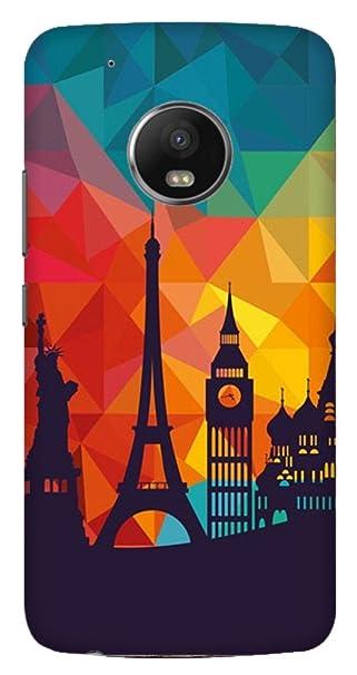 Wizzart Motorola Moto g5 Plus Back Cover Case In Designer Cases And Covers Wonder Print Design Multicolor Cases   Covers