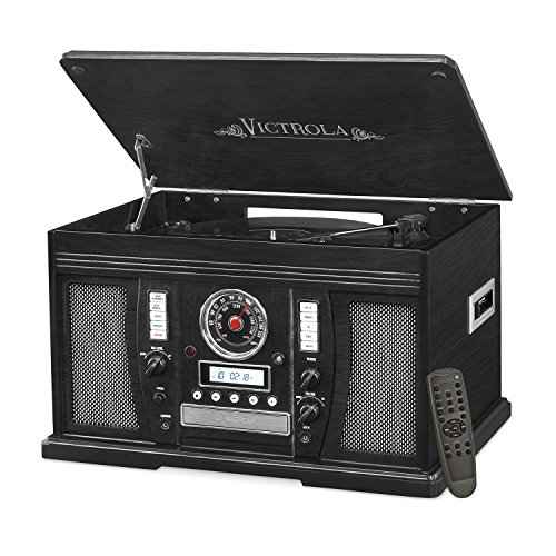 Victrola Nostalgic Aviator Wood 7-in-1 Bluetooth Turntable E