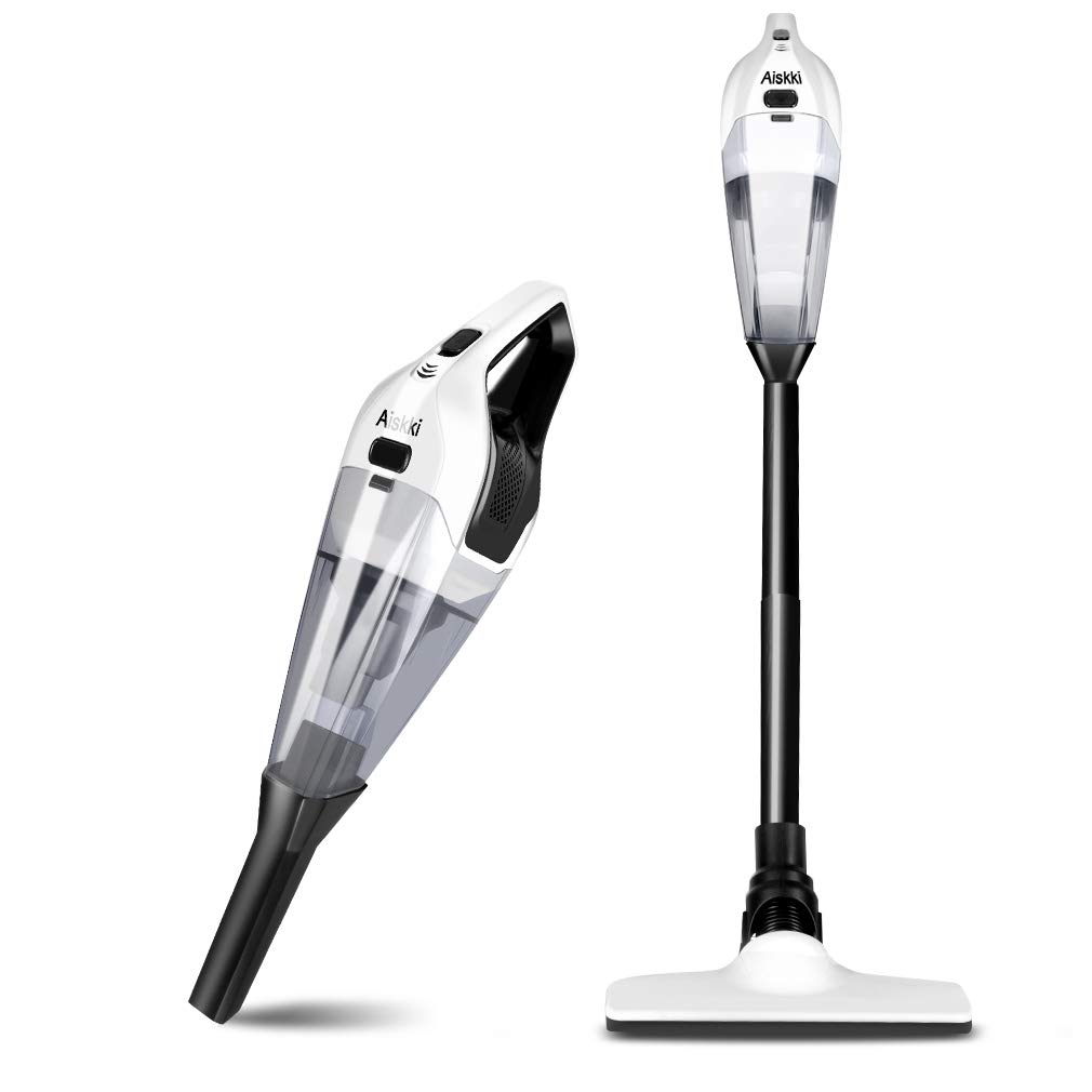 Handheld Vacuum Cleaner, Aiskki 2 in 1 Cordless Upright Vacuum Cleaner Handheld, 14.8V 8Kpa Quick Charge Wet & Dry for Home Hard Floor Cleaning Pet Hair