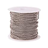 Airssory 32.8 Ft(10 Meters) Brass Ball Bead Chains