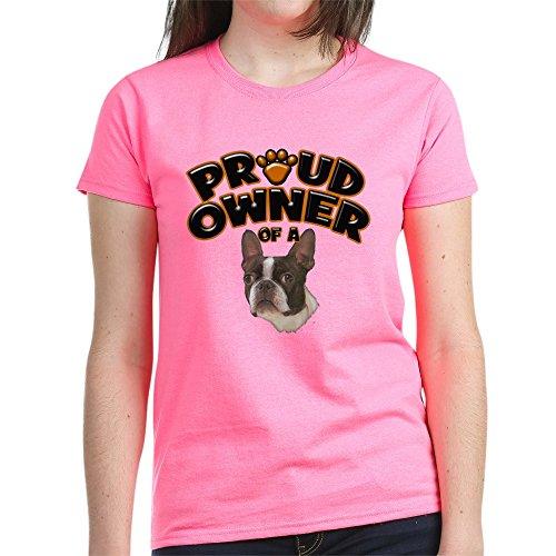 Dark T-shi Animal - CafePress Proud Owner of A Boston Terrier Women's Dark T-Shi - Womens Cotton T-Shirt