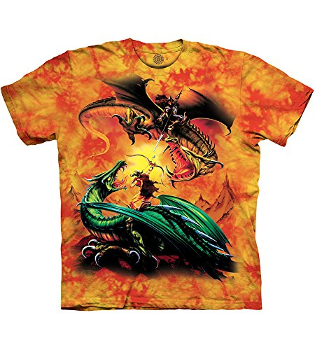 (The Mountain Duel Dragons Fantasy Tee T-shirt Adult XXXL)
