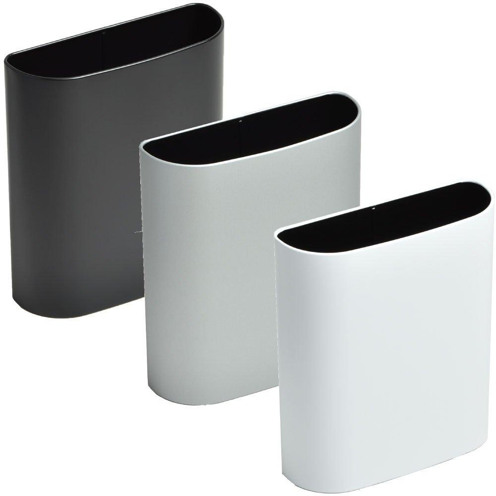 ぶんぶく マグネットバケット 全9色の中から選べる3個セット ゴミ箱 ごみ箱 ダストボックス おしゃれ 日本製 (ブラック×シルバーメタリック×マットホワイト) B075K6PG4Y ブラック×シルバーメタリック×マットホワイト ブラック×シルバーメタリック×マットホワイト