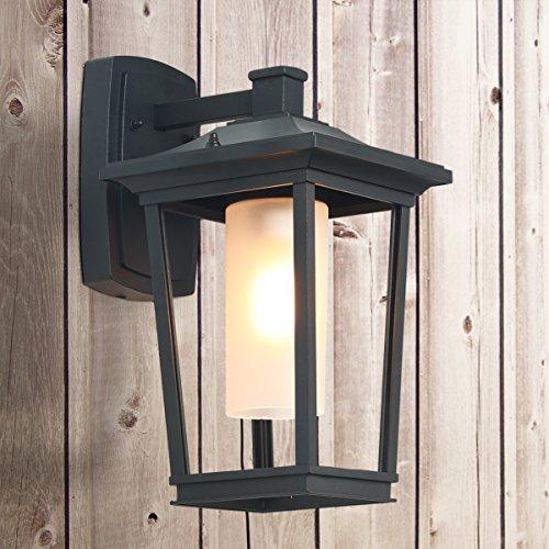Log barn 1 light wall sconces black patio wall lamps outdoor wall lights aloadofball Gallery