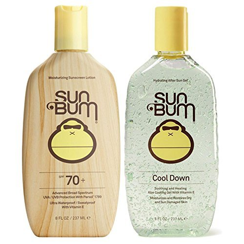 Sun Bum SPF 70 8oz Lotion + Cool Down Aloe Gel