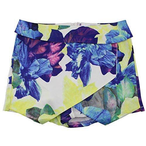 (Moxeay Vogue Women's Sexy Purple Falbala Print Hot Pant Casual Shorts (S))