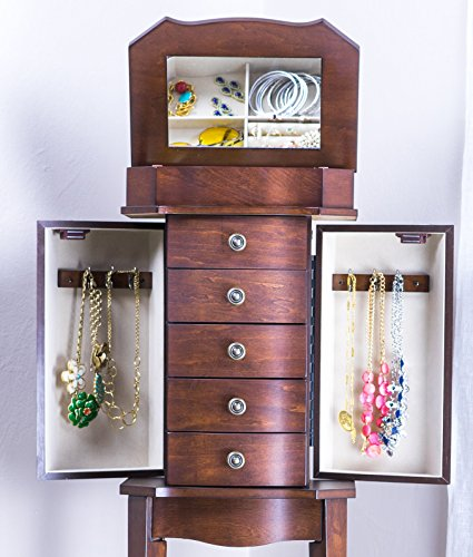 Hives and Honey 'ERIN' Jewelry Armoire, Walnut by Hives and Honey (Image #3)