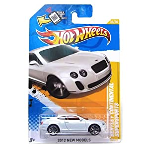 hot wheels 2012 bentley continental supersports white 36247 new models 164 scale - Hot Wheels Cars 2012
