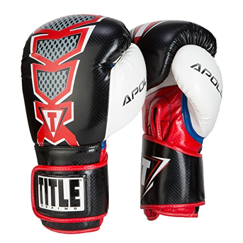 TITLE Boxing Infused Foam Apollo Bag Gloves (Red, 12 (Title Boxing Foam Boxing Gloves)