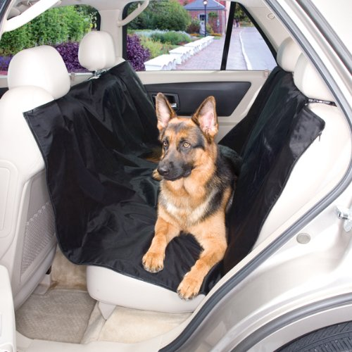 "Guardian Gear All Season Dog Car Seat Covers — Nylon/Polyester Car Seat Covers for Dogs - 63"", Black"