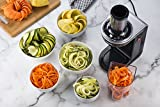 Gourmia GES580 Electric Spiralizer with 3 Blades Recipe Book, 110V - Silver