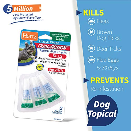 Hartz UltraGuard Dual Action Topical Flea & Tick Prevention for Dogs and Puppies - 5-14 lbs