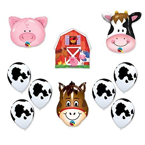 Amazon Barn Farm Animals Birthday Party Cow Horse Pig Balloons Decorations Supplies By Anagram Toys Games