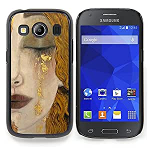 Stuss Case / Funda Carcasa protectora - Rubia Cara Cabello Labios Cry Sad - Samsung Galaxy Ace Style LTE/ G357