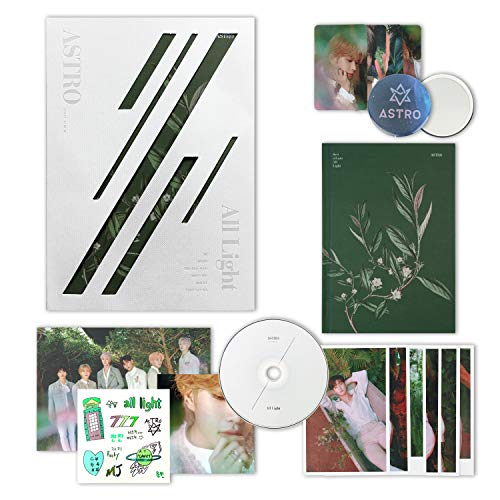 ASTRO 1st Album - All Light [ WHITE ver. ] CD + Photobook + Lyrics Book + Postcards + Sticker + Photocards + FREE GIFT / K-pop Sealed