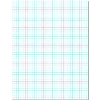 TOPS 33041 Quadrille Pads, 4 Squares/Inch, 8 1/2 x 11, White, 50 Sheets