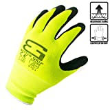 (Box Deal) BGS-LM-8M-CS, Better Grip Nylon Sandy Latex Coated Work Gloves, 144 Pairs/CS (Medium, Hi-Vis Lime)