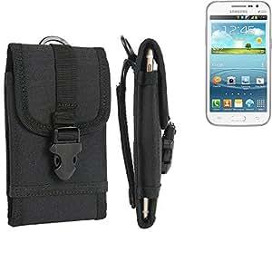 bolsa del cinturón / funda para Samsung Galaxy Win, negro | caja del teléfono cubierta protectora bolso - K-S-Trade (TM)