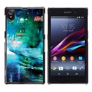 YOYOSHOP [Cool Sci Fi Future City] Sony Xperia Z1 L39h Case