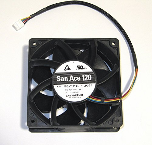 Sanyo Denki SAN Ace 120 3.0 Amp 12 Volt 120mm PWM Fan 224 CFM