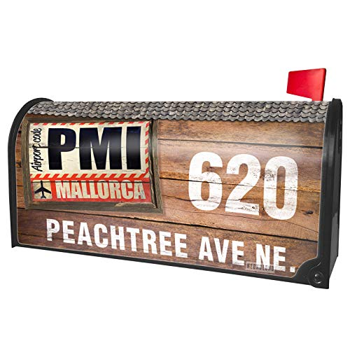 NEONBLOND Custom Mailbox Cover Airportcode PMI ()