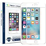 Tech Armor iPhone 6 Plus Screen Protector, HYBRID Edge to Edge Glass (.2mm) Apple iPhone 6S Plus/iPhone 6 Plus (5.5-inch) Screen Protector (Wht) [1]