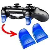 eXtremeRate® 2 Pairs Blue L2 R2 Buttons Trigger Extenders for PlayStation 4 PS4 PS4 Slim PS4 Pro Controller