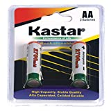 Kastar AA 2700mAh 2PCS(1-PACK) Rechargeable Ni-MH Batteries