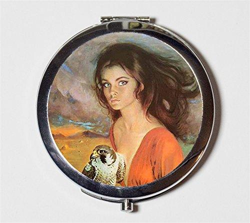 Gothic Romance Compact Mirror 1970s Retro Pulp Fiction Pocket Size for Makeup (1970 Makeup)
